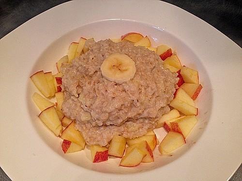 bananen apfel zimt porridge rezept mit bild von crini 022012. Black Bedroom Furniture Sets. Home Design Ideas