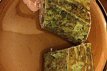 Low-Carb Spinatrolle mit Frischkäse und Kochschinken 40