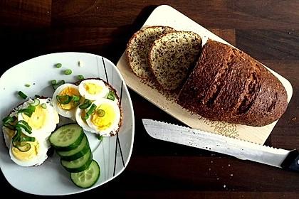 Low-Carb Brot mit Sonnenblumenkernen 4