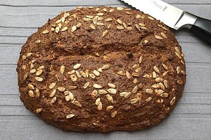 Low-Carb Brot mit Sonnenblumenkernen 3