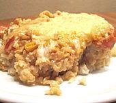 Paprika-Reis-Auflauf mit Hähnchenbrustfilet (Bild)