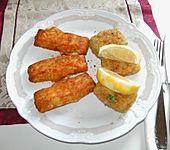 Pikante, frittierte Fischbällchen (Bild)