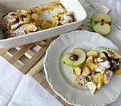 Überbackene Apfelpfannkuchen
