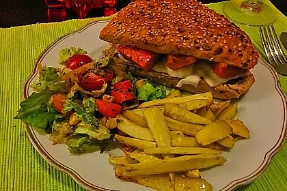 Vegetarischer Kürbis-Burger 5