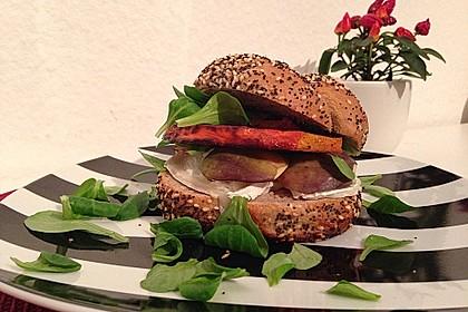 Vegetarischer Kürbis-Burger 2
