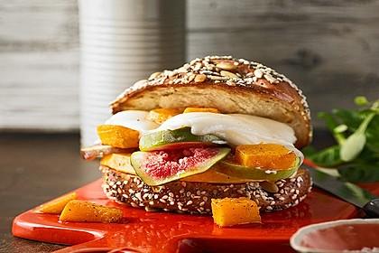 Vegetarischer Kürbis-Burger 1