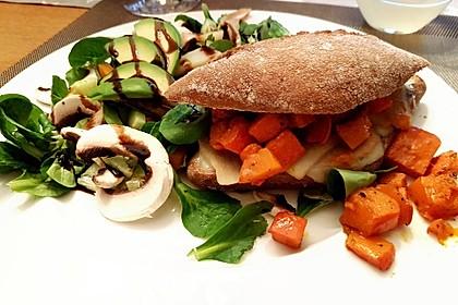 Vegetarischer Kürbis-Burger 3
