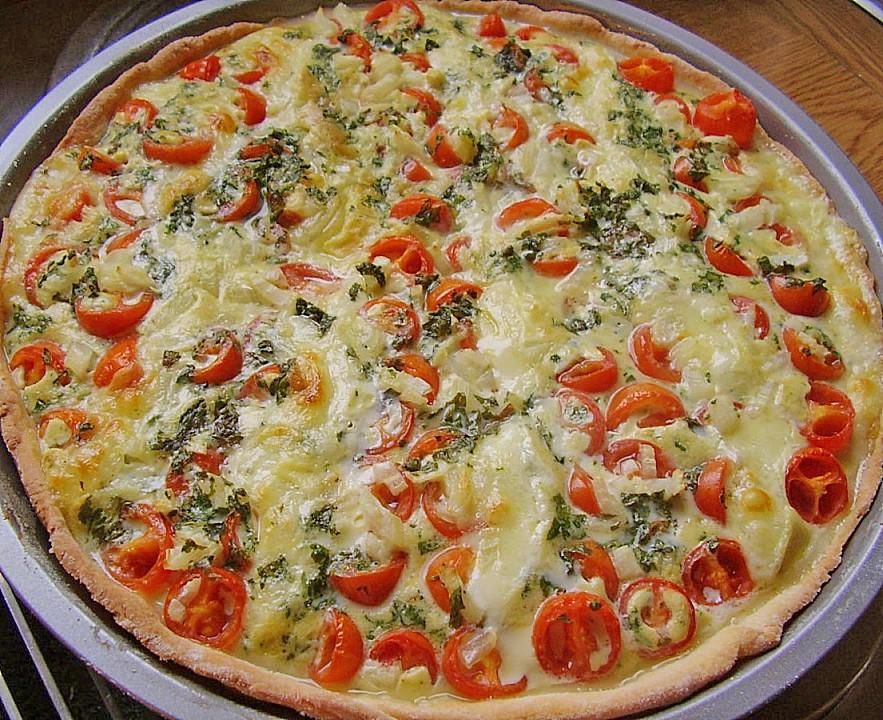 tomaten mozzarella basilikum quiche rezept mit bild. Black Bedroom Furniture Sets. Home Design Ideas