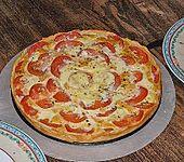 Tomaten - Mozzarella - Basilikum Quiche (Bild)