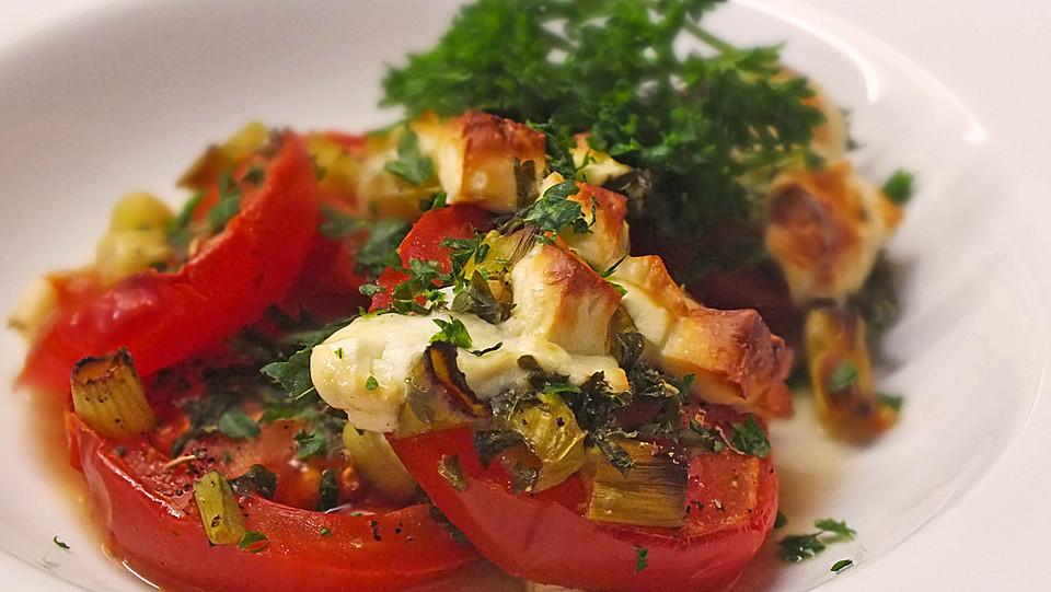 gegrillte tomaten mit schafsk se rezept mit bild. Black Bedroom Furniture Sets. Home Design Ideas