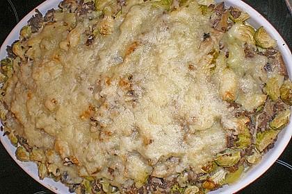 Kartoffel - Rosenkohl - Hack - Auflauf 5