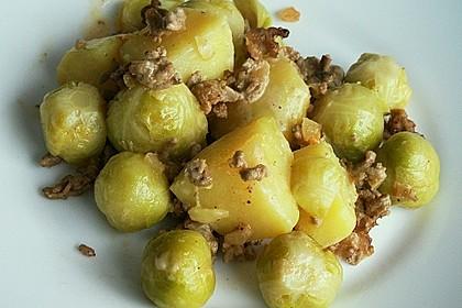 Kartoffel - Rosenkohl - Hack - Auflauf 6