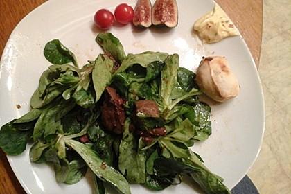Feldsalat mit Leber und Speck 7