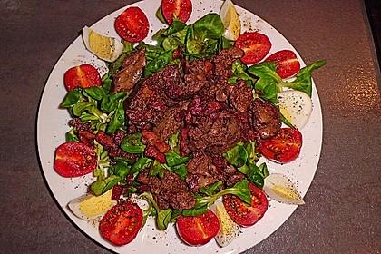 Feldsalat mit Leber und Speck 6