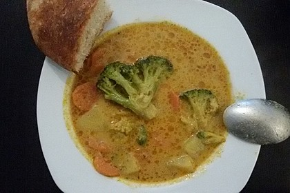 Brokkoli-Curry-Kokosmilch-Suppe 2