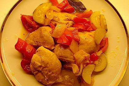 Türkische Huhn-Gemüse-Kasserolle