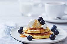 Philadelphia Pancakes mit Heidelbeeren