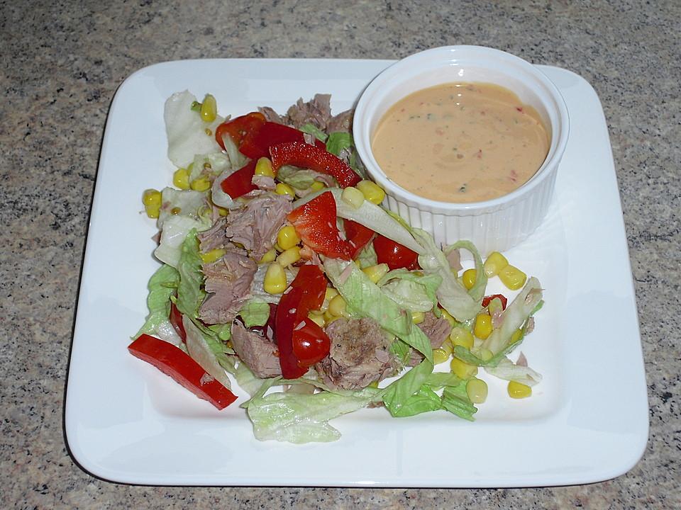 frischer mais thunfisch salat rezept mit bild von goenny. Black Bedroom Furniture Sets. Home Design Ideas