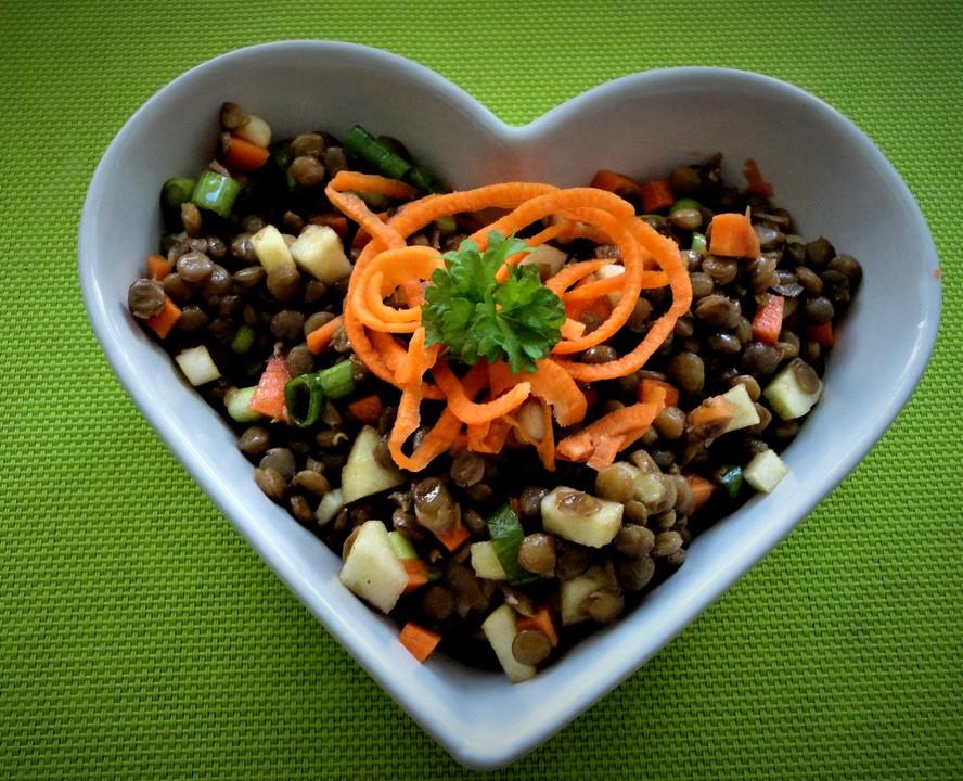 belugalinsen salat mit k rbiskern l dressing von schaech001. Black Bedroom Furniture Sets. Home Design Ideas