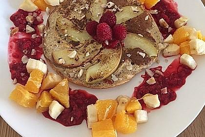 3 kleine Protein-Pancakes, Low Carb