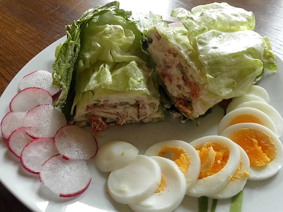 salat wrap mit r ucherlachs rezept mit bild von lislfox. Black Bedroom Furniture Sets. Home Design Ideas