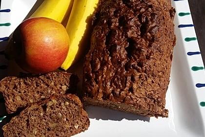 Bananenbrot ohne extra Fett und Zucker 8