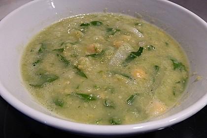 Vegane Kichererbsen-Mangold-Suppe