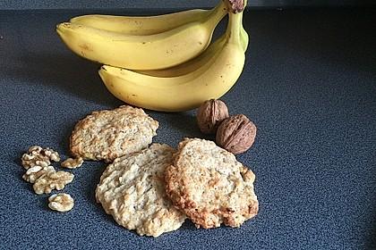 Bananen-Walnuss-Cookies