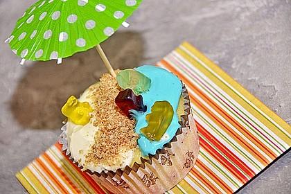 Cake on the Beach Cupcakes