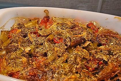 Urmelis feuriger Hähnchen-Handkäse-Champignon-Auflauf
