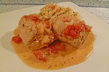 Italienische Pestoröllchen in Tomaten-Käsesauce 1