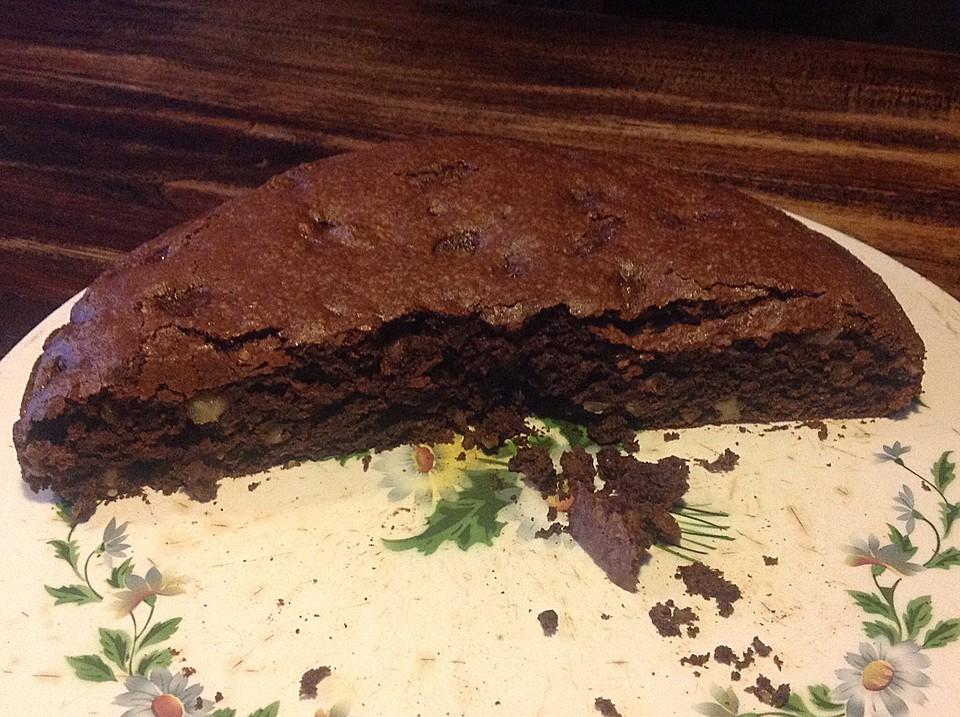 veganer schoko-walnuss-kuchen mit birne und dinkelmehl (rezept mit ... - Vegane Küche Rezepte