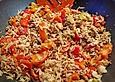 Reis-Paprika-Tomaten-Pfanne