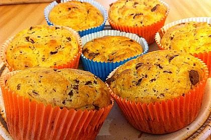 zitronen ricotta muffins mit schokolade von agurk. Black Bedroom Furniture Sets. Home Design Ideas