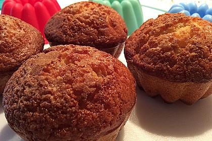 Apfelmusmuffins mit Zimt und Zucker
