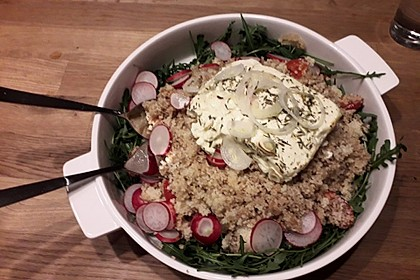 Couscous-Rucola-Salat mit Ofenfeta 4
