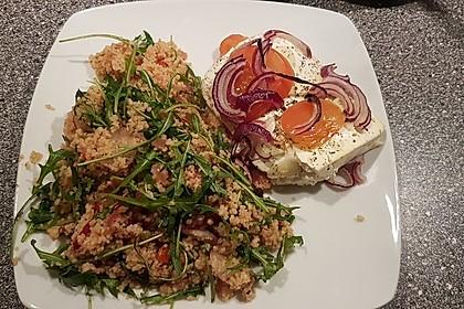 Couscous-Rucola-Salat mit Ofenfeta 1