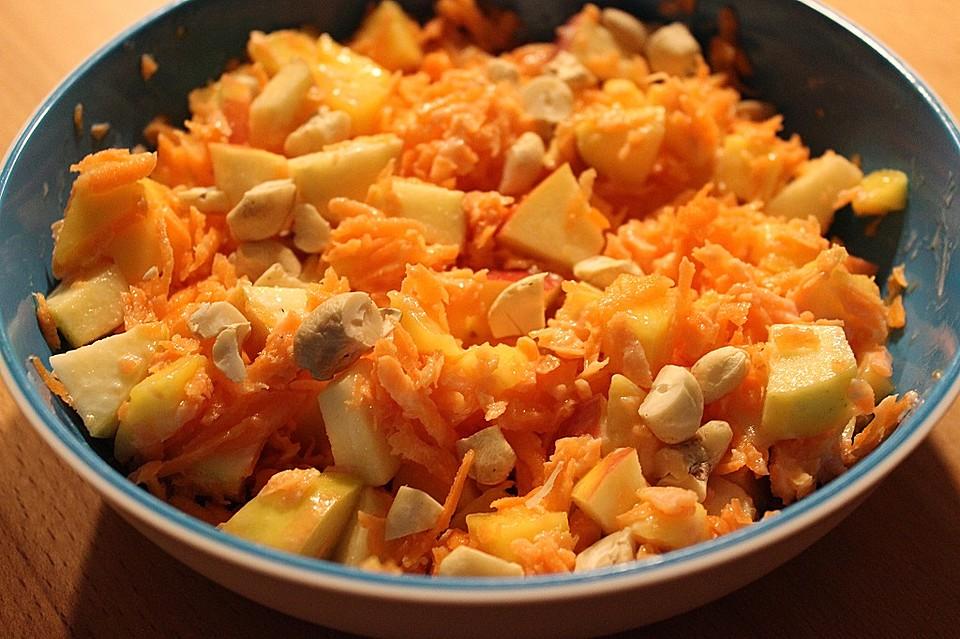 vegetarischer mango karotten apfel salat rezept mit bild. Black Bedroom Furniture Sets. Home Design Ideas