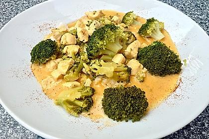 Thai-Curry-Hühnchen mit Brokkoli