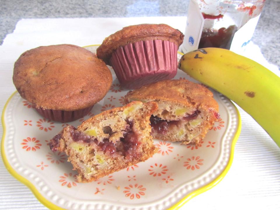 kirsch bananen muffins mit buchweizenmehl von zica1605. Black Bedroom Furniture Sets. Home Design Ideas