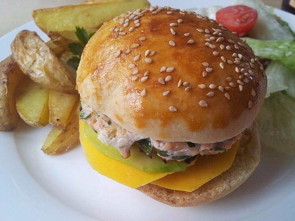 mango lachs burger rezept mit bild von brookey. Black Bedroom Furniture Sets. Home Design Ideas