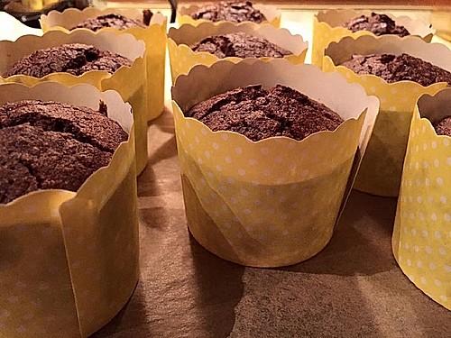 low carb schokoladen kaffee muffins rezept mit bild. Black Bedroom Furniture Sets. Home Design Ideas
