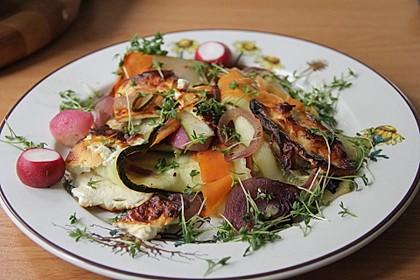Vegetarisches Frühlingspfännchen mit Feta-Käse 1