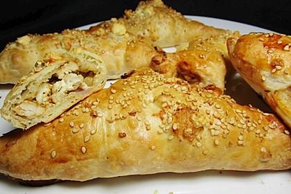 Blätterteig mit Gyrosfüllung und Feta-Käse 8