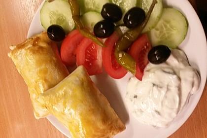 Blätterteig mit Gyrosfüllung und Feta-Käse 11