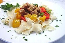 Sahniger Lauch-Paprika-Gulasch-Auflauf