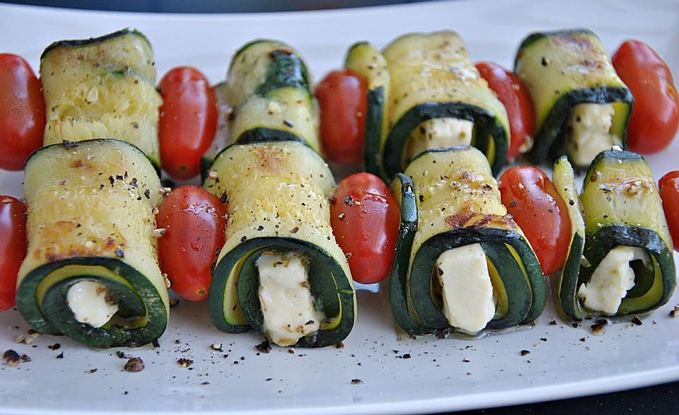 zucchini spie e vom grill rezept mit bild von dacota2006. Black Bedroom Furniture Sets. Home Design Ideas