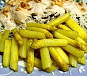 Karamellisierter Spargel mit Curry