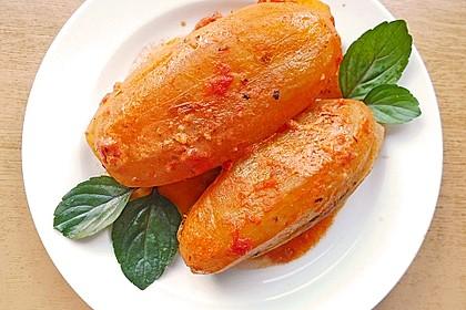 Gefüllte Schmorgurke in Tomatensauce 1