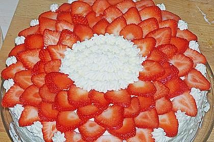 Erdbeertorte mit zarter Joghurtcreme 17